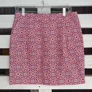 J.Crew color pop geometric print skirt.